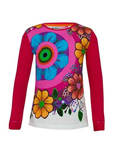 Desigual Ts_Mijas - T- shirt à manches longues - Fille - Rose (Fuchsia Rose 3022) - FR: 12 ans (Taille fabricant: 11/12)