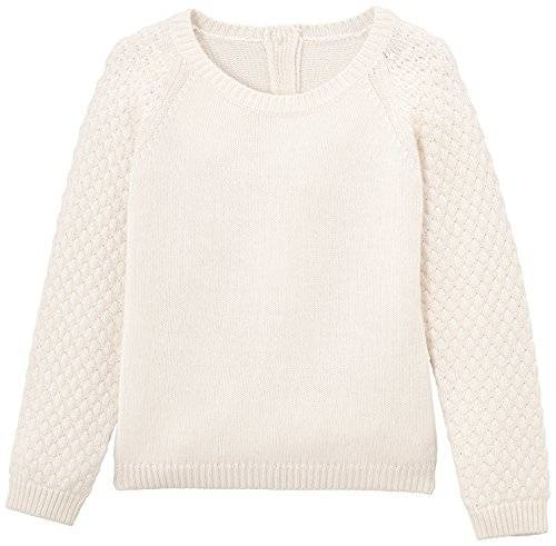Petit Bateau - Pull - Uni - Fille - Ecru (Coquille) - FR: 10 ans (Taille fabricant: 10 ans)