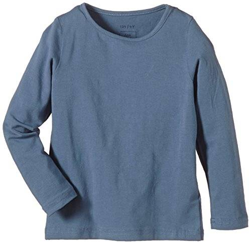 Noa Noa Miniature Mini Basic Jersey Stretch - T-shirt à manches longues - Fille - Bleu (DARK ARONA 121) - FR: 6 ans (Taille fabricant: 6Y)