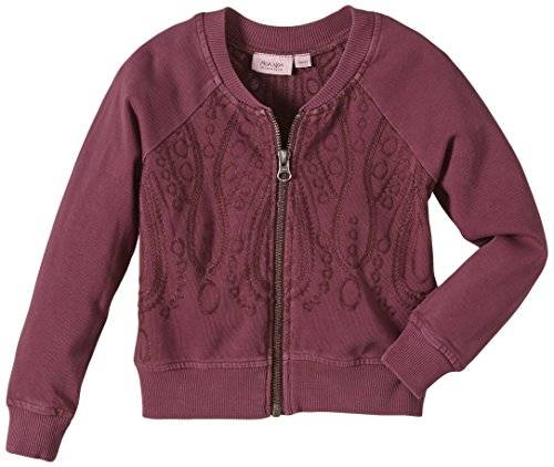 Noa Noa Miniature Mini Striking Sweat - Gilet - Fille - Violet (CARDINAL 313) - FR: 10 ans (Taille fabricant: 10Y)