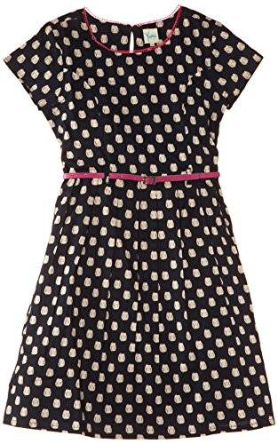Yumi Girls Owl - Robe - Patineuse - Imprimé animal - Manches courtes - Fille - Bleu (Navy) - FR: 23/26 (Taille fabricant: 7-8 Years)