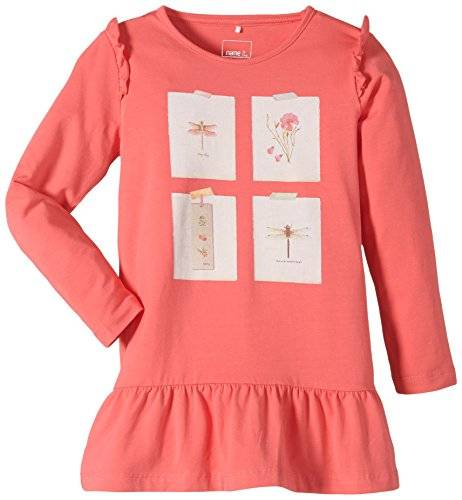 NAME IT - Robe Fille - Rose - Rosa (Calypso Coral) - 7 ans