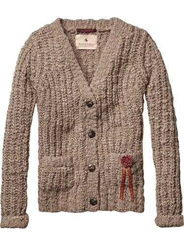 Scotch R'Belle 14540860412 - Gilet - Manches longues - Fille - Multicolore (dessin B B) - FR: 10 ans (Taille fabricant: 10)