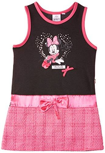 Disney Minnie Mouse NH1059 - Robe - Fille - Noir (Black/Fuschia) - FR: 4 ans (Taille fabricant: 4 ans)