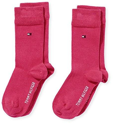 Tommy Hilfiger Th - Chaussettes - Fille - Rose (Cabaret 829) - FR: 27 (Taille fabricant: 27/30)