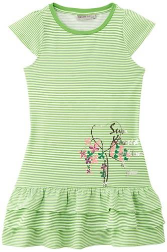 Geox K4280D TR334 - Robe - À rayures - Fille - Vert (Lime) - FR: 12 ans (Taille fabricant: 12 ans)