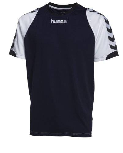 Hummel Homme Maillot BEE AUTHENTIC Manches courtes JERSEY 1 Bleu marine/white s