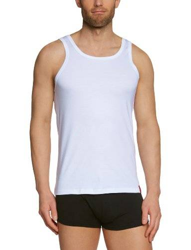 Bruno Banani - Maillot de corps - Sans manche - Homme - Blanc (1 Weiß) - X-Large (Taille fabricant: XL)