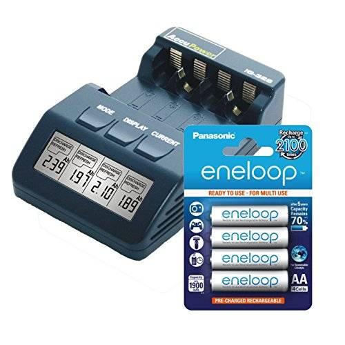 AccuPower Chargeur IQ328 4x Sanyo Eneloop Mignon/AA