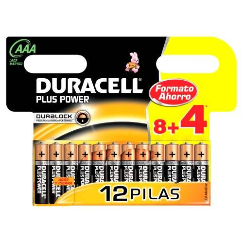 Duracell piles Duracell Plus Power AAA 8+4 Unidades