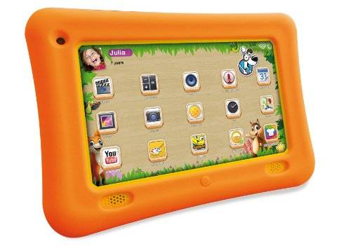 Easypix KiddyPad 17,7 cm (7'') Tablette Tactile (Rockchip RK3168, Dual Core, 1,2GHz, 1Go RAM, 8Go HDD, Android Ecran tactile OS) gelb (Import Europe)