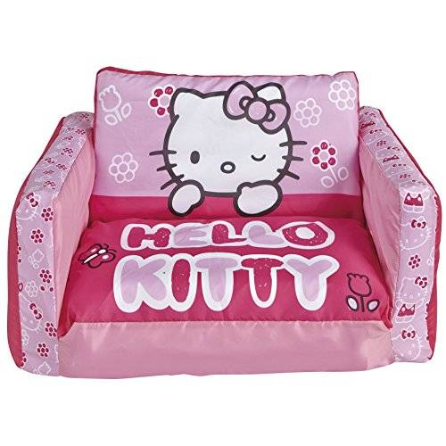 Worlds Apart 864647 Moderne Canapé Lit Hello Kitty Polyester Rose 26 x 68 x 105 cm