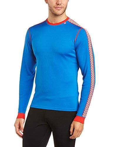 Helly Hansen Dry Stripe Crew T-Shirt manches longues Homme 519 Cobalt Blue FR : M (Taille Fabricant : M)