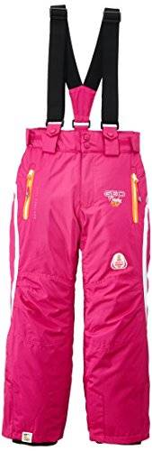 Geographical Norway Wendy Pantalon de ski Fille Flash Pink/Orange FR : 12 ans (Taille Fabricant : 12)