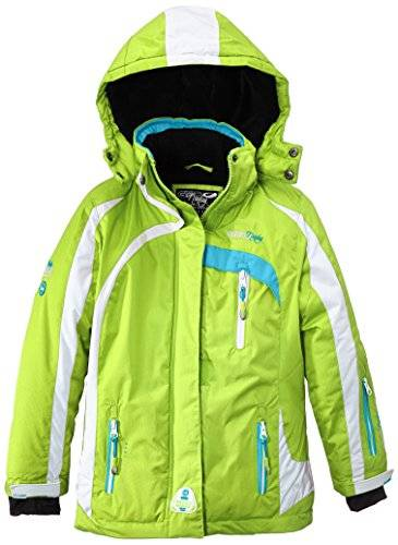 Geographical Norway Wanda Veste de ski Fille Anis/Turquoise FR : 14 ans (Taille Fabricant : 14)