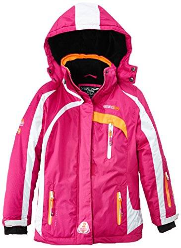 Geographical Norway Wanda Veste de ski Fille Flash Pink/Orange FR : 14 ans (Taille Fabricant : 14)