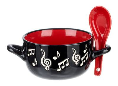 Music Sales Music Note Bowl Spoon Red