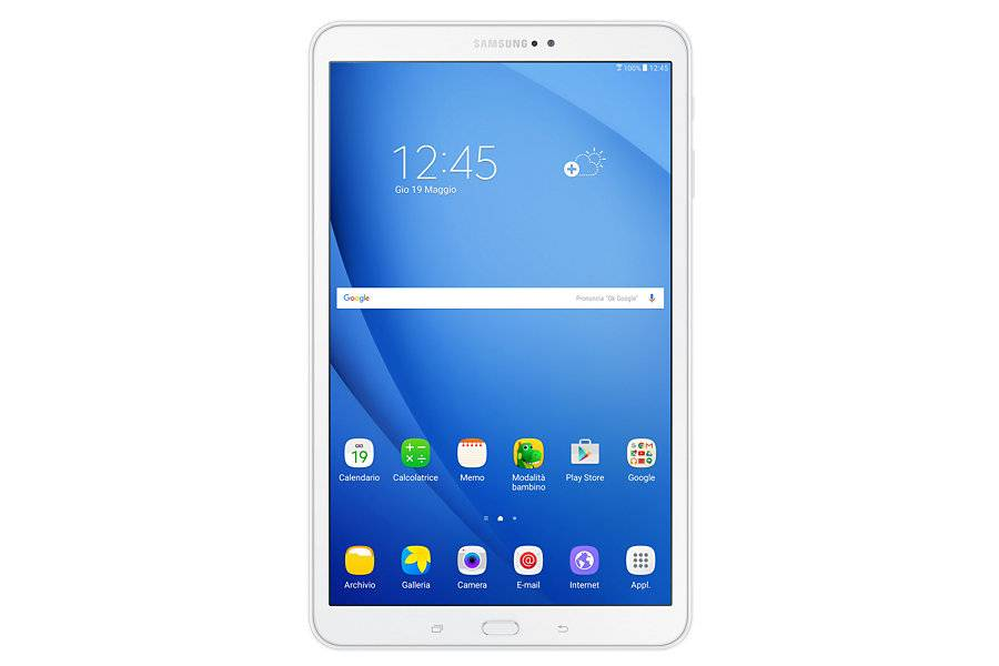 "Samsung Tablet Samsung Tab A (2016) Sm T580 10.1"" 16 Gb Octa Core Wifi Bluetooth 8 Mp Android Refurbished Bianco"