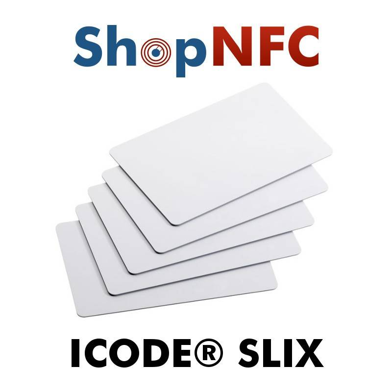 Tessere NFC in PVC bianche NXP ICODE® SLIX