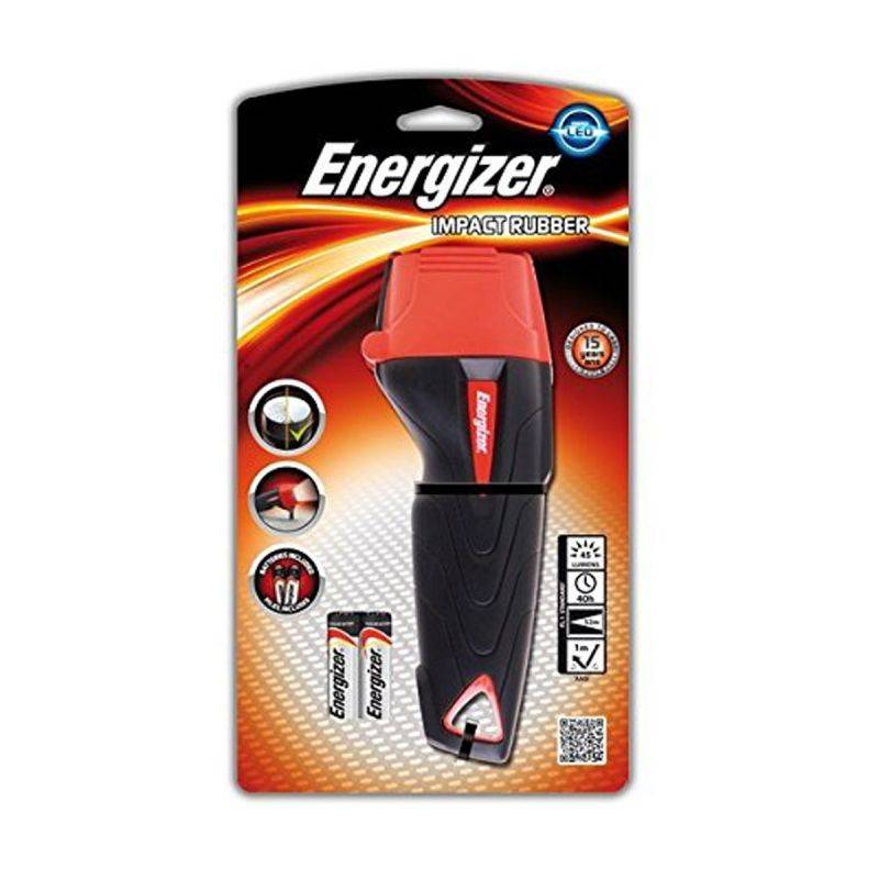 Energizer Torcia  A Led In Gomma Media - Impact Rubber 2xaa