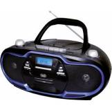 trevi Radio Portatile Cd/mp3 Boombox Con Supporto Mp3 Colore Nero, Blu - Cmp 574 Usb