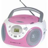 trevi Radio Portatile Cd/mp3 Boombox Con Supporto Mp3 Colore Pink - Cmp 522