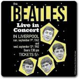 The Beatles - Live in Concert Cork Coaster - Untersetzer