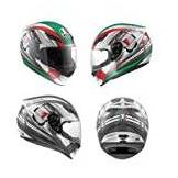AGV CASCO  INTEGRALE K-4 EVO HANG-ON, BIANCO-GUN METAL, taglia L