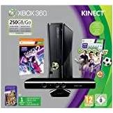 Microsoft Xbox 360 - 250GB Console with Kinect Sensor: Includes Kinect Sports and Dance Central 2 [Edizione: Regno Unito]