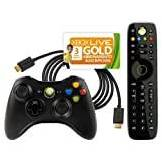 Microsoft Xbox 360 - Essentials Pack: Wireless Controller, Nero + New Media Remote + Cavo HDMI + Xbox Live - Gold Card 3 Mesi [Bundle]