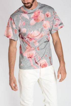 Nicopanda T-Shirt All Over Rose In Cotone Jersey  Primavera-Estate Art. 75028
