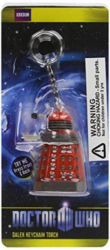 Doctor Who Wesco Doctor Who - Dalek Teddy (portachiavi con luce LED), rosso