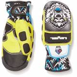 Level Worldcup JR CF Mitt Guanto, Nero/Giallo, 6/Jr L