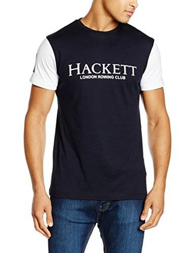 Hackett Clothing London Rowing Club, Sport shirt Uomo, Multicolore (Navy/white), S(UK)