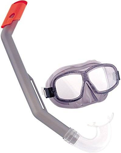 Bestway Hydro-Force Queste™ Snorkel Set - swimming sets (Diving mask, Snorkel, Child, Blue, Purple, Polycarbonate, Resealable clam shell, China)
