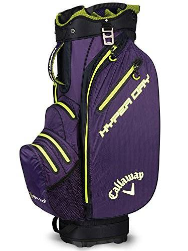 Callaway Hyper Dry Sacca da golf, unisex, 5118086, Purple/Green/White, M