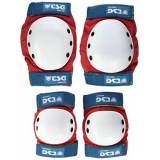 Tsg Set di protezioni Basic, Multicolore (Red/white/blue), M