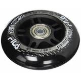Fila Wheels 80 mm/82 A + ABEC5 + in Alluminio Spacer 6 mm ruote, colore nero