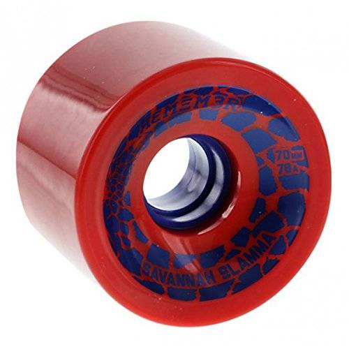 Luxe, Rotelle da freeride per longboard Remember Collective Savannah Slamm, Rosso (Red), 70 mm