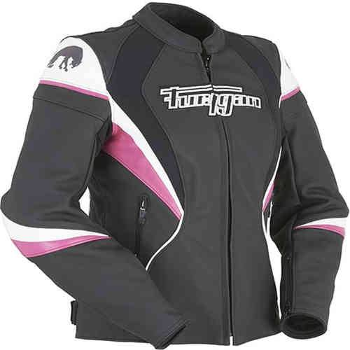 Furygan Xenia Racing Lady Nero/Bianco/Pink
