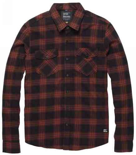 Vintage Industries Harley Camicia Rosso