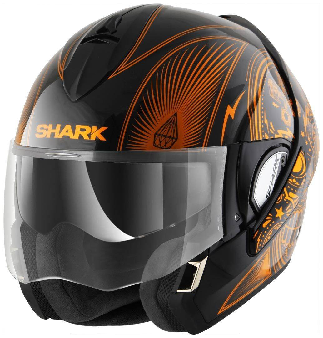 Shark Evoline Series 3 Mezcal Chrome Casco Nero/Arancione S (55/56)