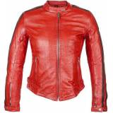 Helstons Angel Rag Giacca in pelle da donna Rosso