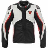 Dainese Misano 1000 D-AIR Bag Giacca in pelle Bianco/Nero/Rosso