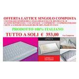 ErgoRelax Offerta Lattice Singolo (1 materasso in lattice 80x190 + 1 rete 80x190 + 1 cusci