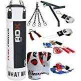 RDX Authentique RDX 13P Professional Set de boxe en cuir Rex punch Sac 4FT/5FT, Gants, Support