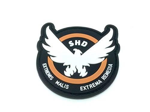 Patch Nation The Division SHD Extremis Malis Extrema Remedia Ali PVC Airsoft Paintball Squadra Patch