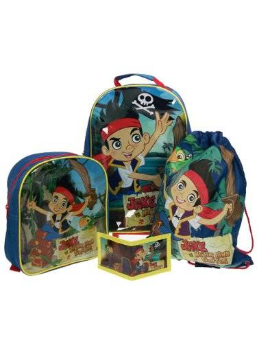 Disney SET TROLLEY ZAINO JAKE IL PIRATE E L'ISOLA CHE NON C'E' DISNEY