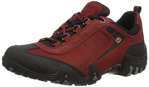 Allrounder by Mephisto FINA-TEX RUBBER 1/G.NUBUK 48 BLACK/MID RED, Scarpe sportive outdoor donna