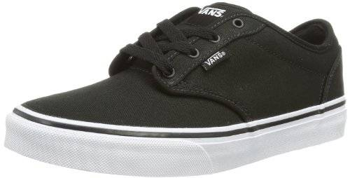 Vans Y ATWOOD (CANVAS) BLK/WHT, Sneaker unisex bambino, CanvasBlack/White, 34.5